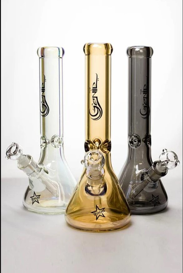 Genie 14 Metallic 9 mm glass beaker bong